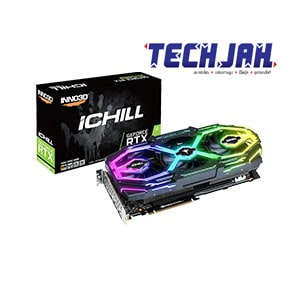การ์ดจอแบบ 3 ใบพัดระบบสี RGB สีสันสดใส INNO3D GEFORCE RTX 2070 SUPER ICHILL X3 ULTRA